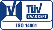 TÜV Saarland Zertifikat ISO 14001:2004